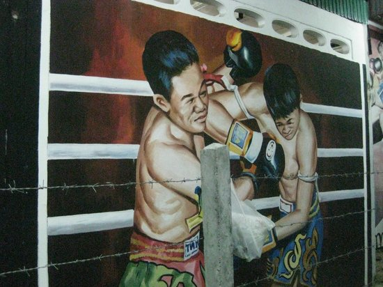 Suwit Muay Thai Training Camp & Gym: Outside mural 2