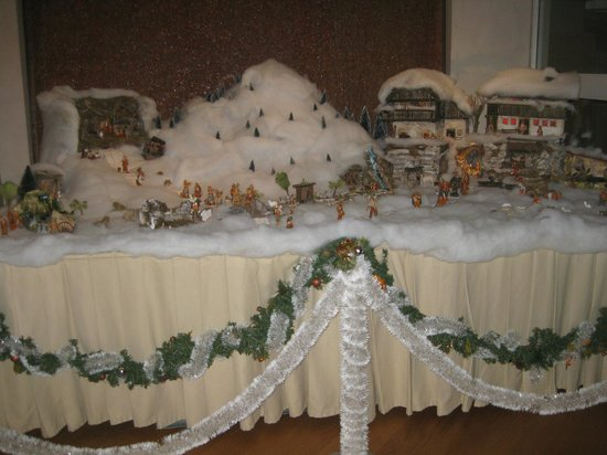 Hotel Caesius Thermae & Spa Resort : Table decorated for Christmas