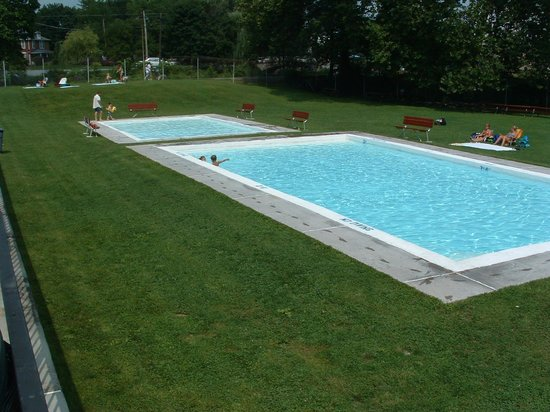 "Boiling Springs Pool: The baby pool and '2nd"" pool, in the lower lawn area."