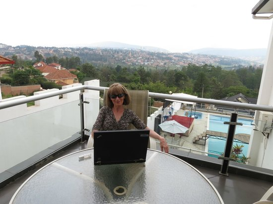 The Manor Hotel: working from room balcony