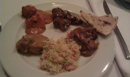 Rasoi Restaurant: Platos principales del menú degustación