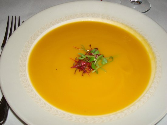 The Dining Room at Washingborough Hall Country Hotel: roast vegetable soup