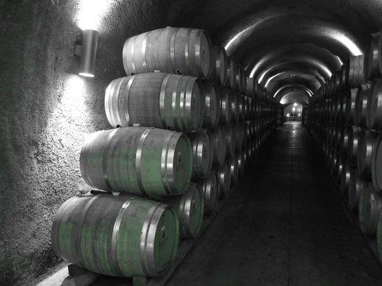 JUSTIN Vineyards and Winery: Barrels at Justin