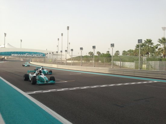 Yas Marina Circuit: Finish line