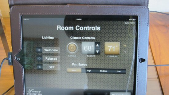 Fairmont Pacific Rim: iPad Controls for the Room