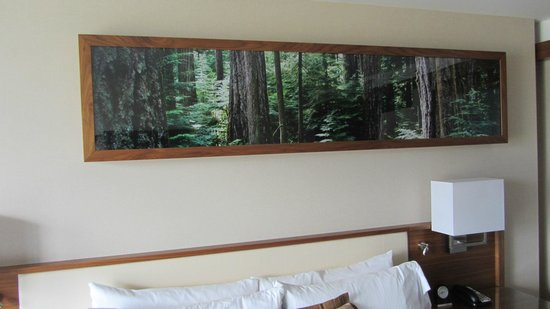 Fairmont Pacific Rim: Room-Nature Mural (it lights up)
