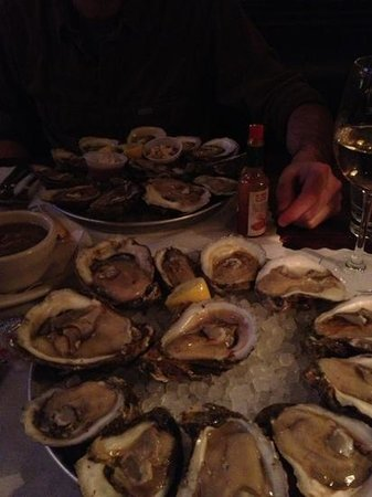 Boathouse Rotisserie & Raw Bar: the first two rounds of food brought out