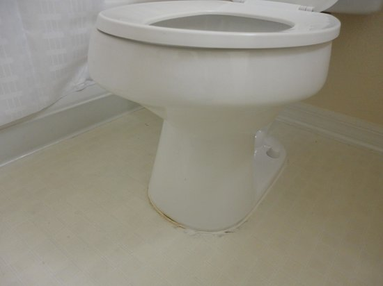 Mainsail Tampa Extended Stay: toilet dirty and stained