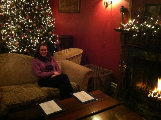Springfort Hall Country House Hotel: sitting by the fire in the front drawing room