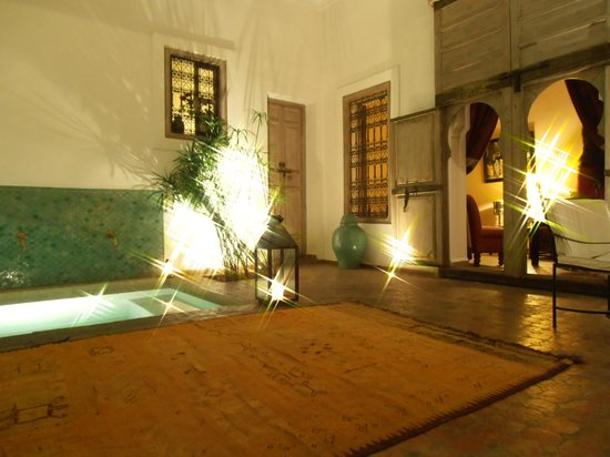Riad Altair: Reception area.