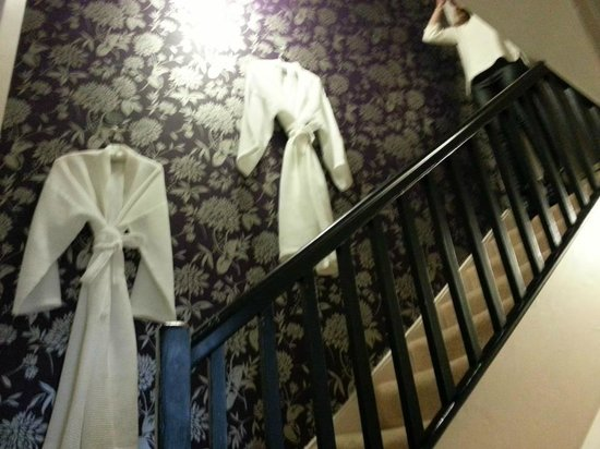 Harington's City Hotel: stairs to loo