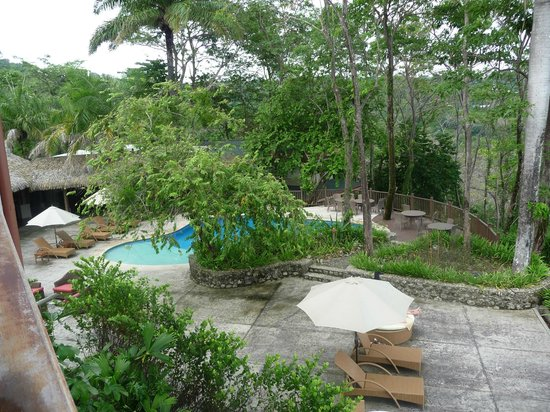 Arenas del Mar Beachfront and Rainforest Resort, Manuel Antonio, Costa Rica: view of pool area from our room