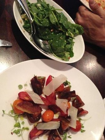 Muster Bar and Grill: sides: rocket salad/ tomato salad