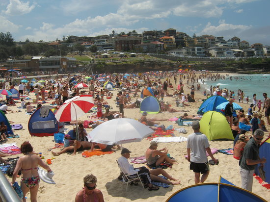 Bronte Beach: The Beach gets Busy Especially on New Years Day!