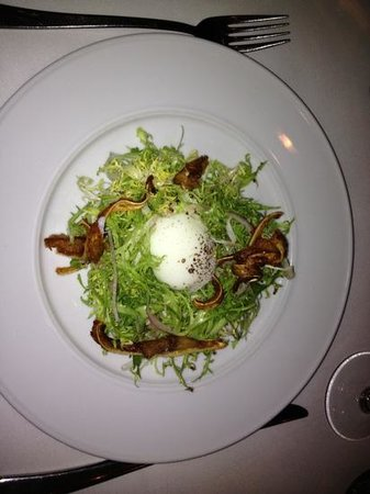 Julienne : Pigs ear and 63 degree egg