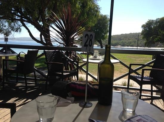 Emu Point Cafe: view from the porch