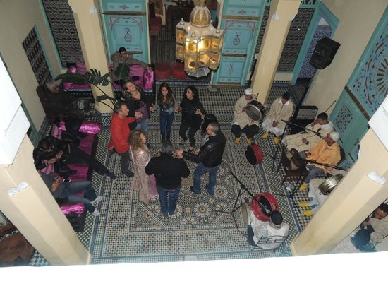 Riad Amazigh Meknes: At 2 AM the New Year 2013 party was still going