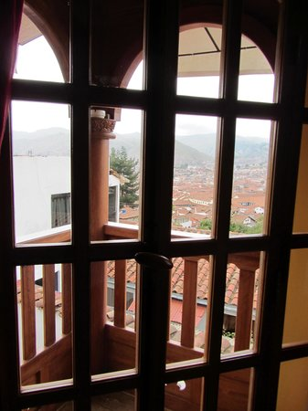 Quinua Villa Boutique: View of Cusco from terrace
