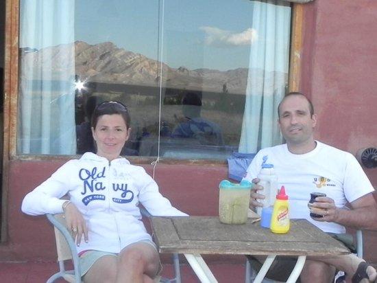Hotel Pukarainca: unos mates mirando las montañas