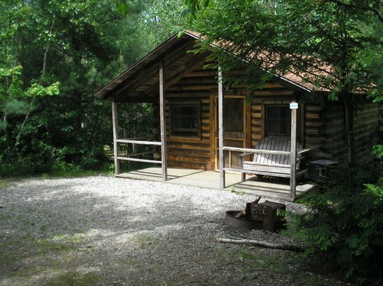 Prospect Mountain Campground: One of our camping cabins