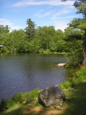 Prospect Mountain Campground: One of our two ponds on a sunny summer day