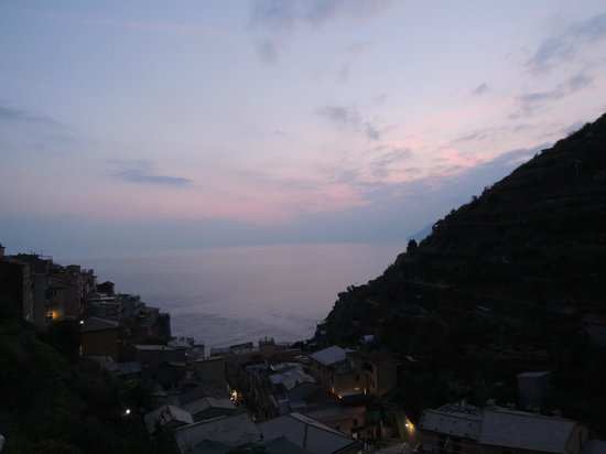 La Torretta: Watching the sun set from our Terrace with a complementary glass of prosecco