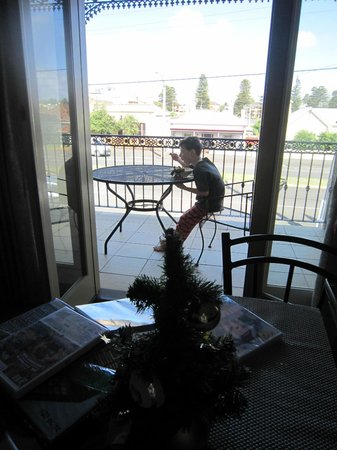 Banyan Place : As it was Christmas, our host provided a small tree on the dining table.