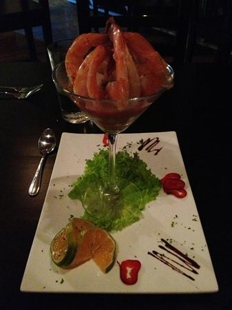 Salt: Shrimp with mango cocktail sauce!
