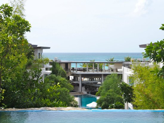 Discovery Shores Boracay: view from the higher area of the hotel - one of the first things you'll see when arriving