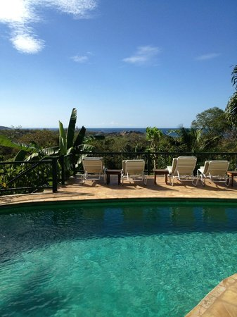 Villa Mango: swiming pool and view to the ocean