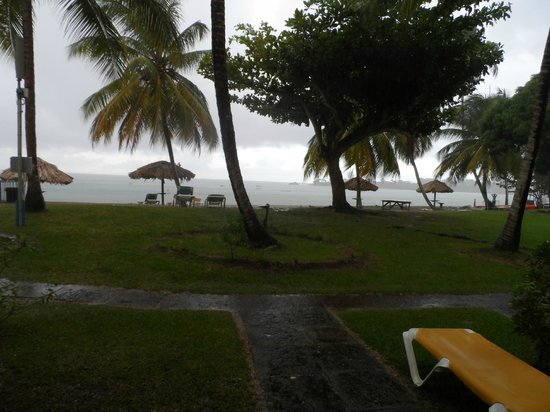 Turtle Beach by Rex Resorts: View from room 123 on a tropical rainy day