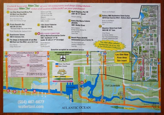 Water Taxi Map Picture of Water Taxi Fort Lauderdale TripAdvisor
