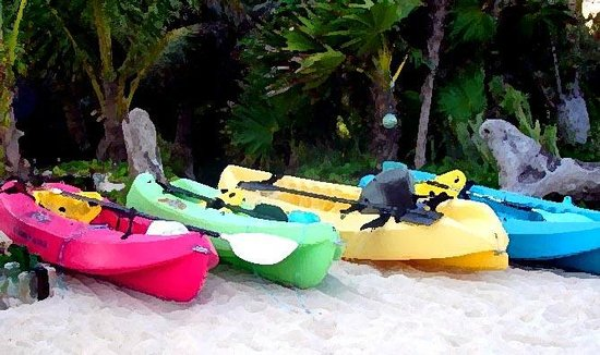 Sin Duda Villas: Kayaks and snorkel gear for our guests