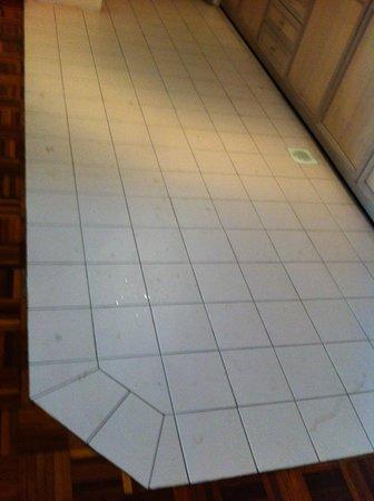 Star Regency Hotel & Apartments: Dirty kitchen floor