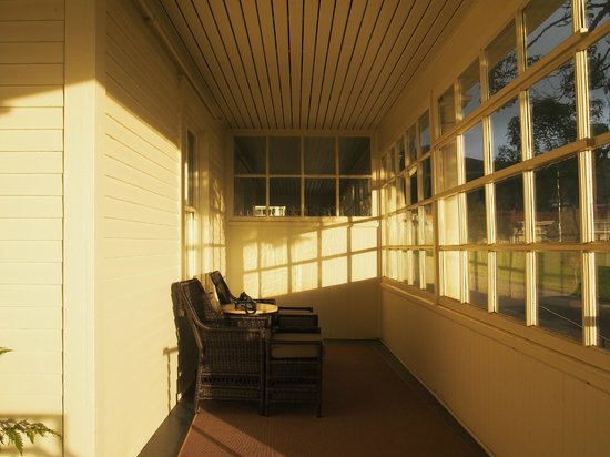 Cavallo Point: Veranda in the morning light
