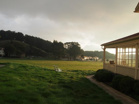Cavallo Point: Adirondack chairs on lawn
