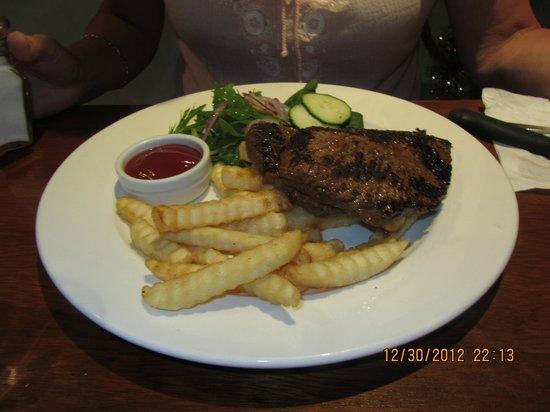 Driftin' Coffee Bar Restaurant: $13.90 steak dinner