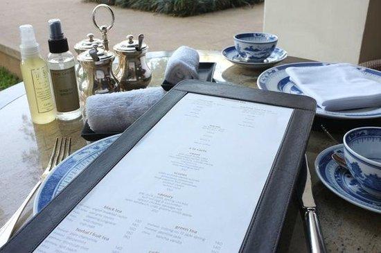 Anantara Chiang Mai Resort: Cream tea menu