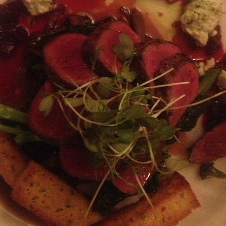 Solicit: Tasmanian Wallaby with beetroot and goats cheese