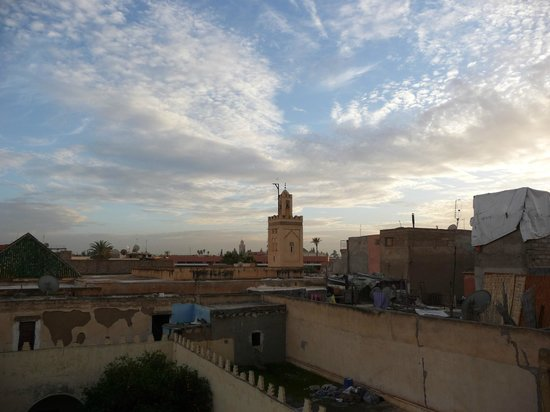Riad Dar Zaman: View from terrace towards the Atlas Mountains