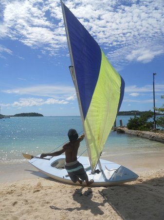 The Catamaran Hotel: Free use of sailing dingy and some great free instruction