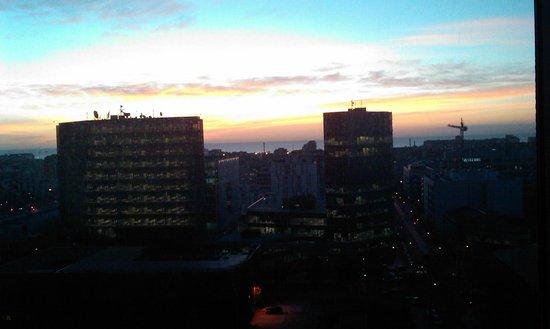 Novotel Barcelona City: l'alba dalla camera