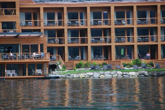 Seevilla Freiberg : le camere viste dal lago