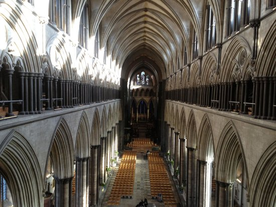 ‪‪Salisbury Cathedral‬: The nave from above