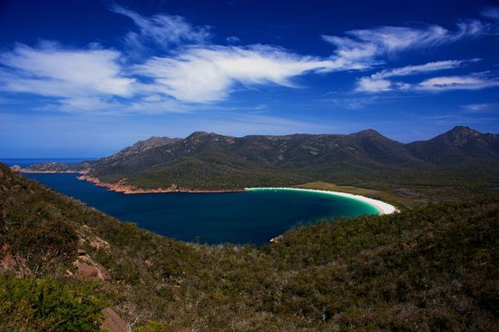 The view from Wineglass Bay Lookout