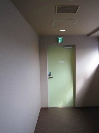 Dormy Inn Kurashiki: emergency door was locked