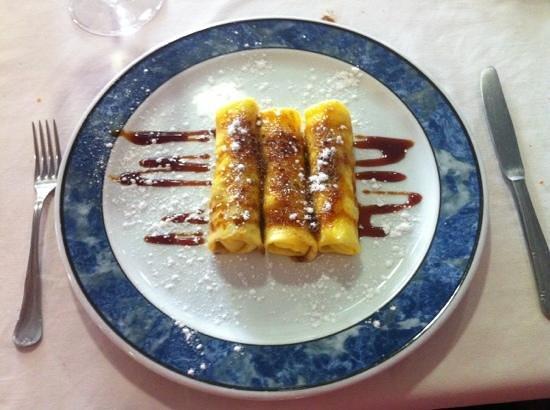 Restaurante Casa Ces: Cañas de crema