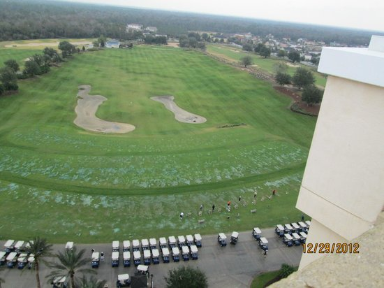 Reunion Resort of Orlando: golf course from top of hotel