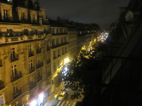 New Orient Hotel: the view from our room at night
