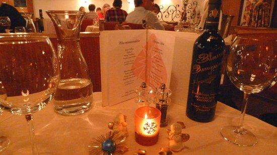 Hotel Grischuna: Christmas Eve dinner at the Grischuna